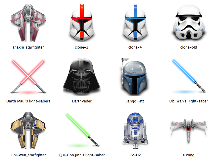Star Wars Mac Icons. Posted on December 2, 2008 by Patrick| 1 Comment